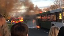 School bus catches fire in Gloucestershire