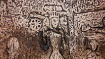 'Knights Templar' cave carvings at risk