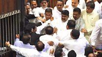Brawl breaks out in Sri Lanka parliament