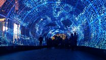 Tunnel of light thrills city