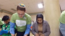 Jews and Muslims come together to cook soup
