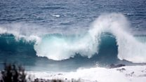 Huge waves hit Canary Islands