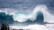 Huge waves hit Tenerife in Canary Islands
