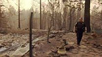 Wildfire destroys police officer's home