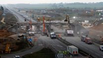 Timelapse video shows bridge demolition