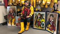Lifeboat member paints to honour crew