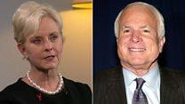 McCain widow - I'll never get over Trump slur