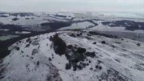 Snow fall on Devil's Dyke