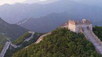Menyelamatkan Tembok Besar Cina dengan drone