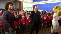 Children and sports stars become Super Movers