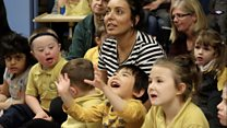 Magic show for pupils at vandalised school