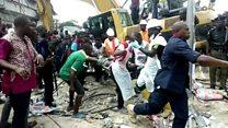 Port Harcourt: Lee ka esi zọpụta ndị tọrọ n'ụlọ elu dara ada