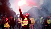 Tear gas fired at Paris fuel protesters