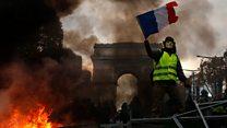 پاریس در تصرف معترضان زردپوش