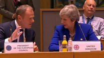 Theresa May meets EU leaders