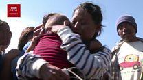 Momen haru pertemuan keluarga yang terpisah gempa dan tsunami di Palu
