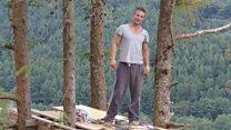 Officials destroy ex-soldier's cabin