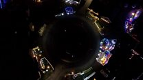 Christmas lights captured from the air