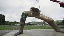 'UK's largest' sculpture built in Powys