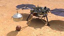 """Космический аппарат """"Инсайт"""" успешно сел на Марсе"""