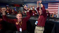 Aterrizaje en Marte: la celebración en la NASA del momento en el que la sonda InSight llega al Planeta Rojo