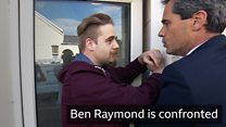 Ben Raymond is confronted