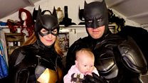 Batman baby couple spend £10k on outfits