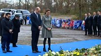 Prince William and Kate lay tribute