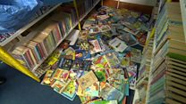 School loses hundreds of books in storm