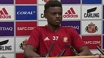 SAFC player takes over press conference