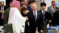 Putin and Saudi crown prince high five