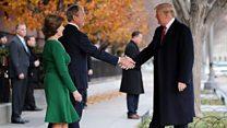 President Trump pays visit to Bush family