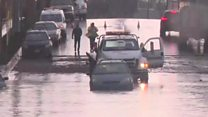 Flooding and snow as storm hits California
