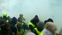 Police fire tear gas at Paris protesters