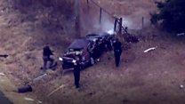 بالفيديو: مطاردة سيارة تنتهي بحادث في أمريكا