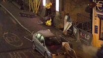 CCTV shows car being driven towards nightclub staff