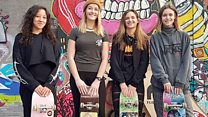 Meet the girls-only skateboarding group