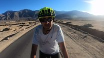 The blind cyclist conquering the Himalayas