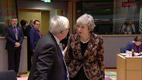 What did May tell Juncker at EU summit?