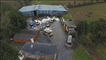 Drone footage of aftermath of Roscommon attack