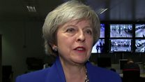 May asked about Corbyn's comment