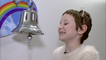 Girl, 8, rings bell to end cancer treatment