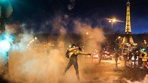 Officer draws gun at protests