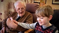 Boy, 4, shares gifts with dementia patient