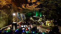 Christmas cave concert in 'Devil's Arse'