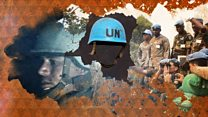 Why are blue helmets in DR Congo?