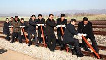 Kuze ve Güney Kore 'birleşiyor': Demiryolu sembolik olarak açıldı