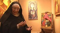 Sister Wendy on her Christmas icons