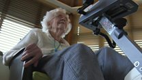 Dementia patients enjoy virtual cycling trips