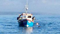Fisherman rescued after five-mile ordeal